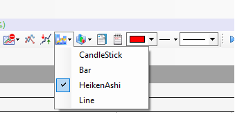 Select a Chart Type from the Chart Standard Toolbar